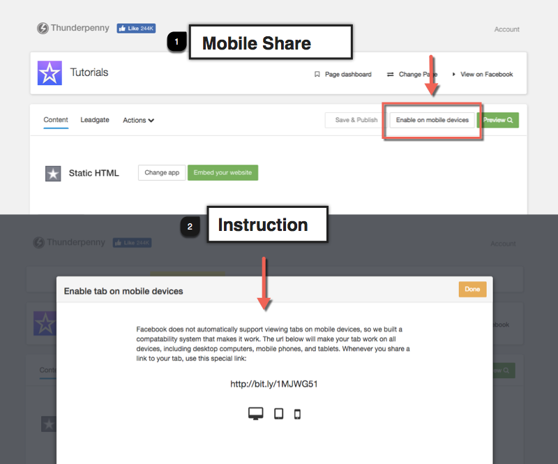 Mobile Access and How to Post with Mobile Enabled Share URL