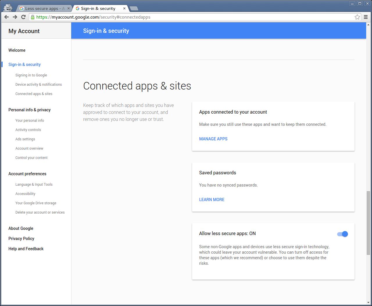Why won't my Gmail SMTP settings work?