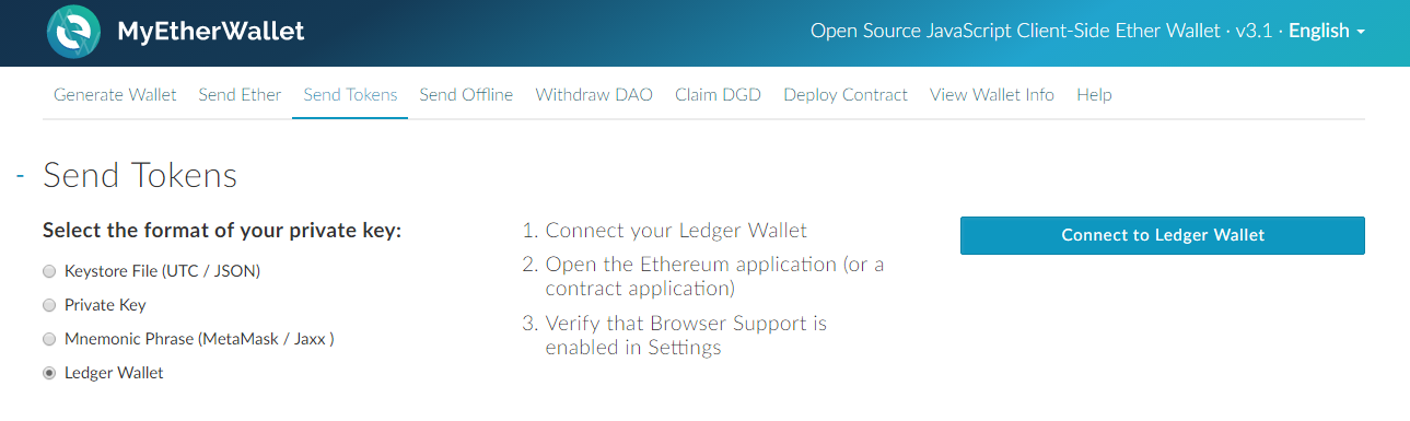 How to use MyEtherWallet with the Nano S and Blue? – Coinhouse