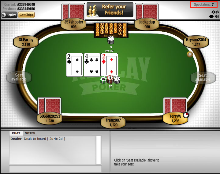 Replay Poker Lobby