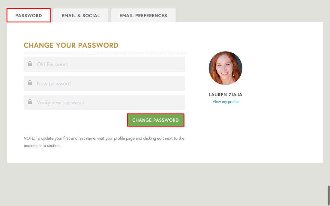 changing a password on employee engagement software