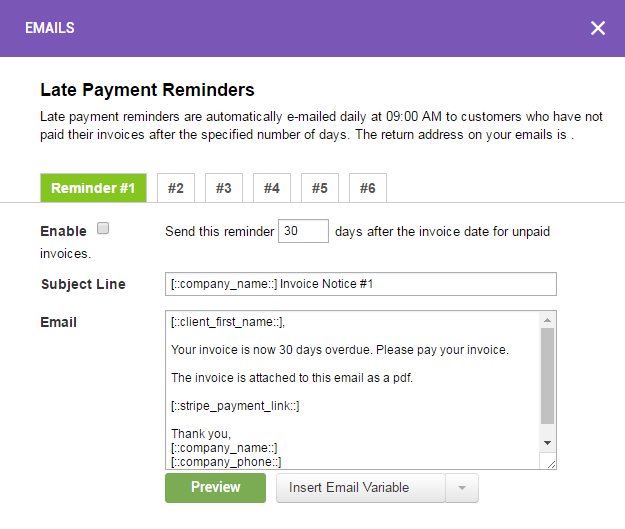 Late Payment Reminders