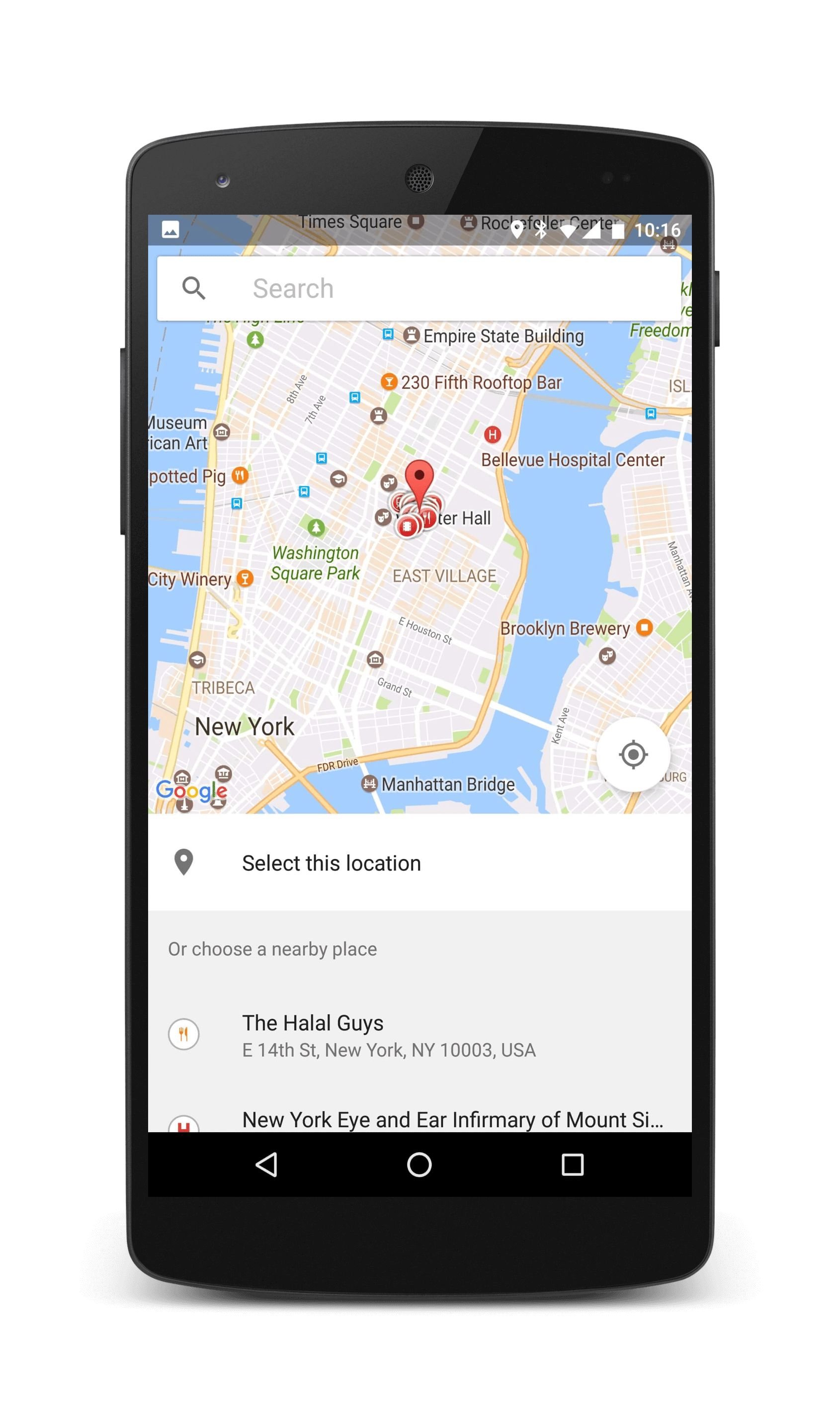 Sensibo search location