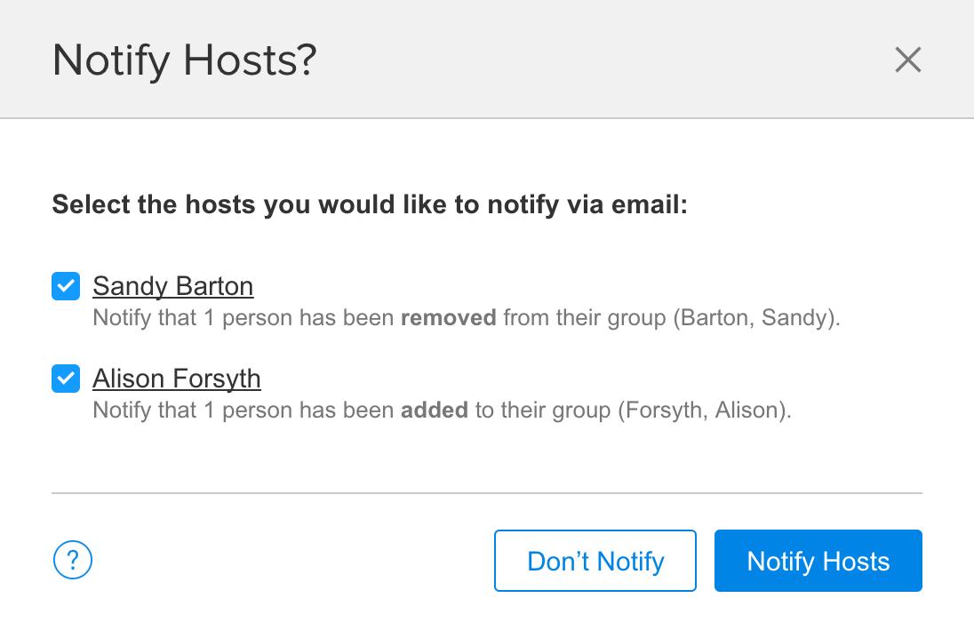 Notify Hosts
