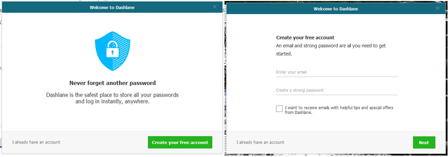 Dashlane User Account Activation (Corporate Employees
