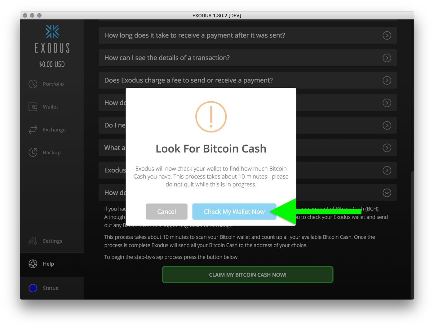 How do i claim bitcoin cash exodus knowledge base step 7 exodus now tells you the total amount of bitcoin cash you have to send out and also gives you the network mining fee this transaction will cost to ccuart Gallery