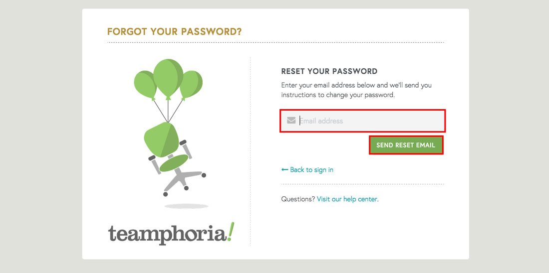 enter email to log into employee recognition software