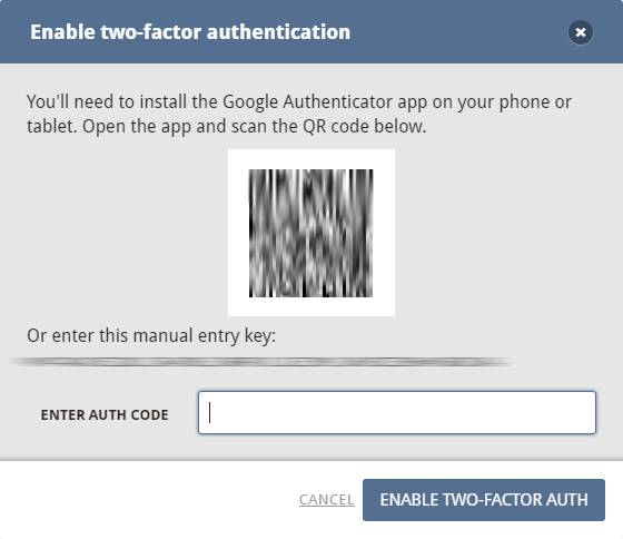 Two-factor authentication 2