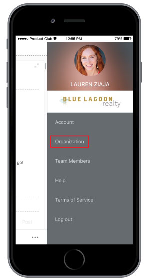 viewing company core values on mobile app to promote company culture