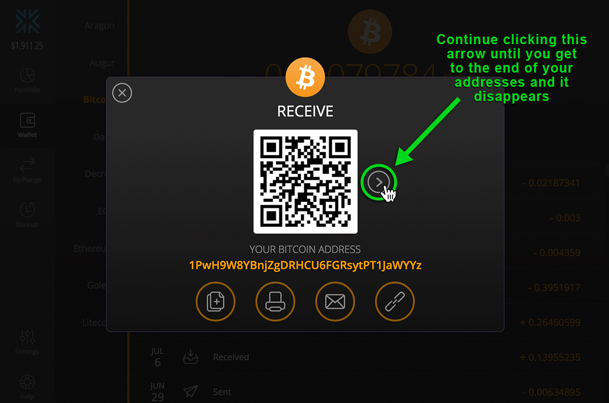 How do i generate a new bitcoin address exodus knowledge base as soon as you make a deposit in the second one a third one is created and so on and so forth have a look at the images below for more details ccuart Image collections