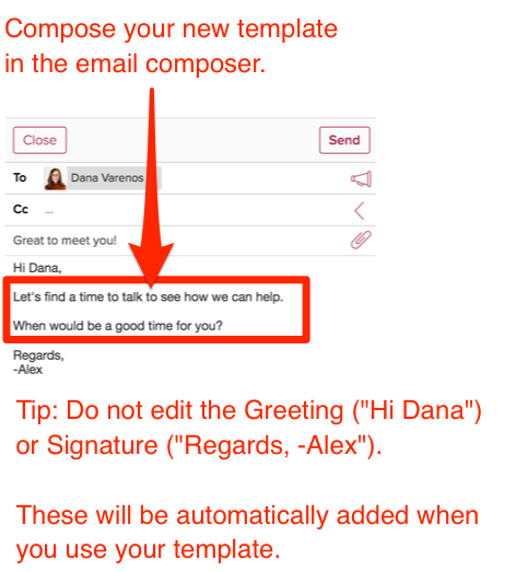 How Do I Create A New Email Template Cloze Inc - Save email as template