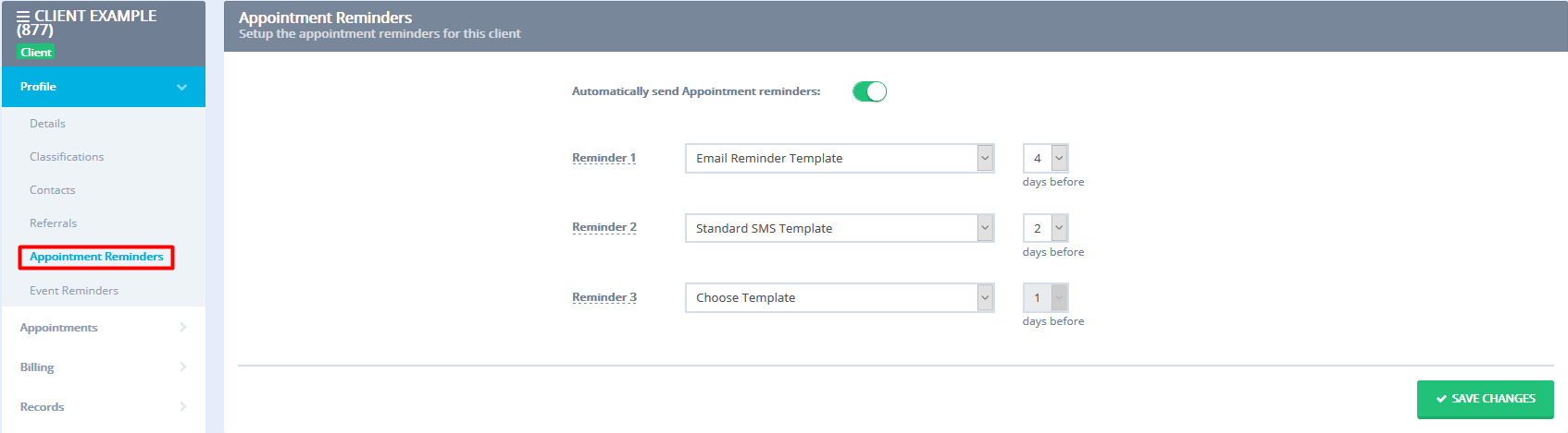 Setting up and editing email appointment reminders turning email reminders on off for an individual appointment maxwellsz