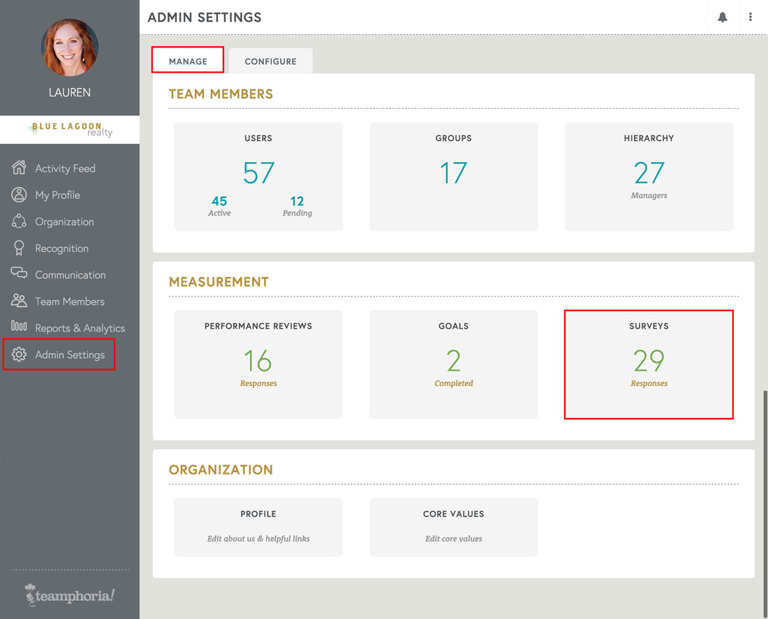view results from employee engagement survey on free employee review software