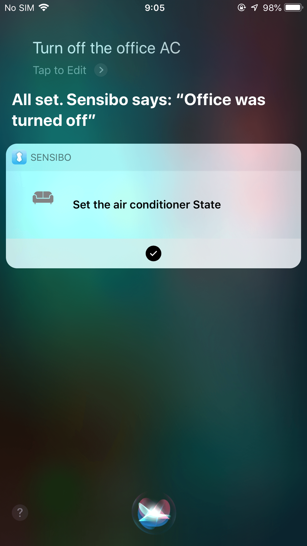 siri shortcut confirmation