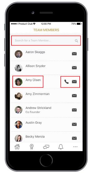 employee engagement platform mobile app version of employee profile