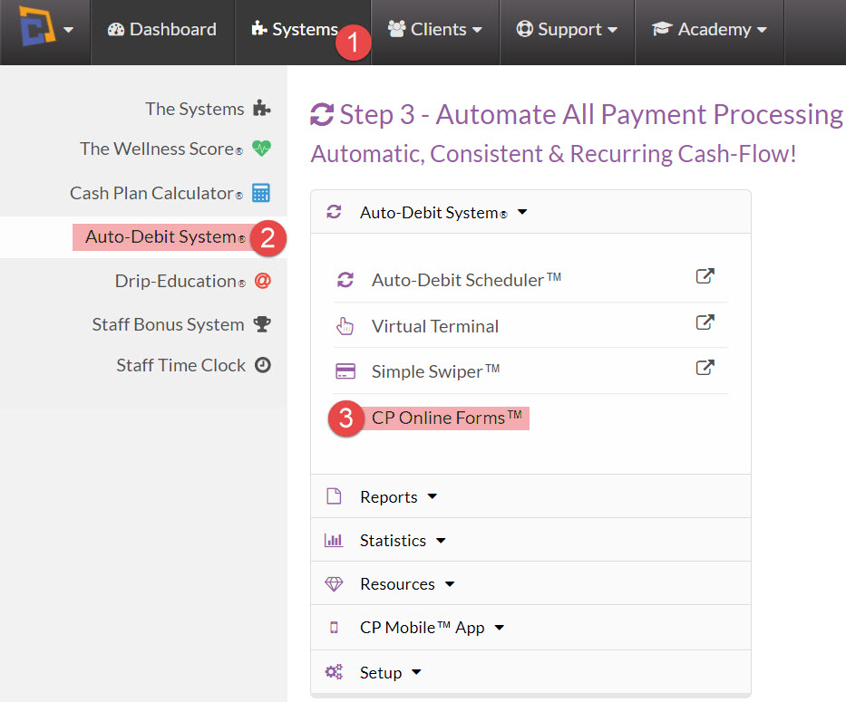 edit forms how do i view edit my cp online forms i use with the auto debit system module
