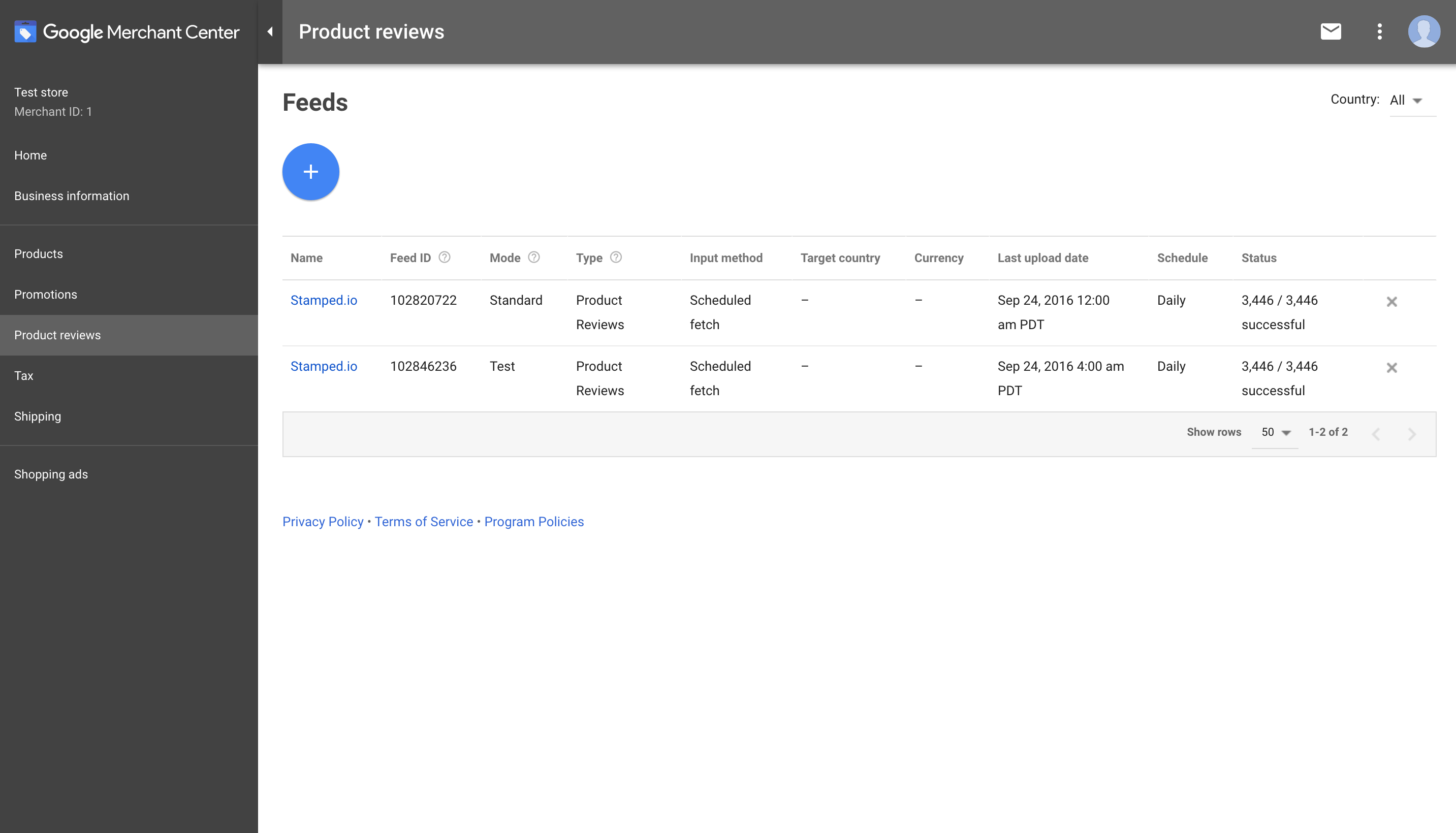 Google Shopping Product Reviews Feed - Stamped io Support