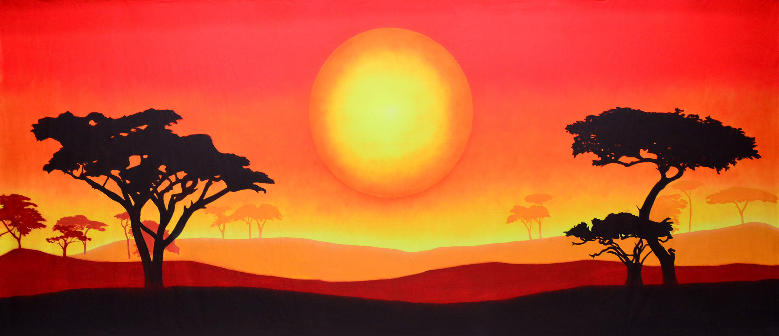 African Sun Landscape Projected Backdrop for Landscapes, Lion King