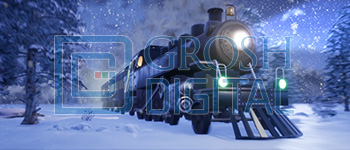 Polar Express Projected Backdrop for Holiday, Snows, Travel