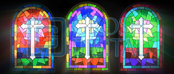 Stained Glass Window Projected Backdrop for