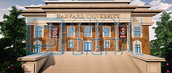 Harvard University Projected Backdrop for Exteriors, Legally Blonde