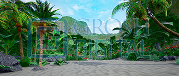 Daytime Island Projected Backdrop for Beach/Tropical, Madagascar, Moana