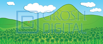Seussical Clover Field Projected Backdrop for Abstract, Landscapes, Seussical