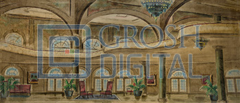 Stylized Hotel Interior Projected Backdrop for Interiors, Travel