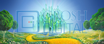 Emerald City Exterior Landscape Projected Backdrop for