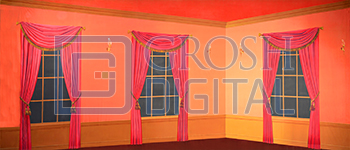 Interior Room Projected Backdrop for Cinderella, Hairspray, Interiors, Mary Poppins, Sound of Music