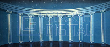 Colonnade Projected Backdrop for Castles, Cinderella, Interiors, Palace/Parlors, Sleeping Beauty
