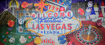 Vegas Projected Backdrop for Celebration, Dance