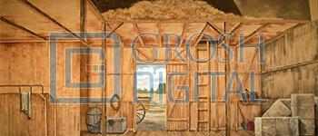 Barn Interior Projected Backdrop for Footloose, Interiors, Oklahoma, Seven Brides for Seven Brothers, Wizard of Oz