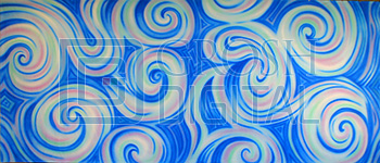 Abstract Swirl Projected Backdrop for Abstract, Alice in Wonderland