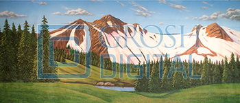 Green Mountain Landscape Projected Backdrop for Brigadoon, Landscapes, Seven Brides for Seven Brothers, Sound of Music