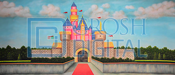 Whimsical Castle Projected Backdrop for