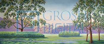 Park Landscape Projected Backdrop for Forest, Landscapes, Legally Blonde, Music Man, Pajama Game