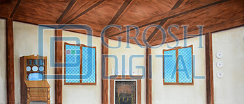 Cottage Interior Projected Backdrop for
