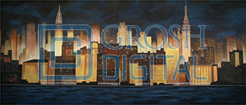 New York Skyline Projected Backdrop for