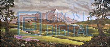 Scottish Mountain Landscape Projected Backdrop for