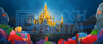 Undersea Castle Projected Backdrop for Castles, Exteriors, Landscapes, Little Mermaid, Undersea