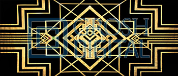 Art Deco Projected Backdrop for Abstract, Thoroughly Modern Millie
