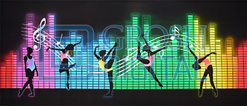 Turn Up the Music 2 Projected Backdrop for Dance