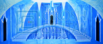 Ice Castle Interior Projected Backdrop for Dance, Frozen, Interiors, Snows