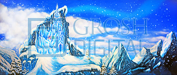 Ice Castle Exterior Projected Backdrop for Dance, Exteriors, Frozen, Nutcracker, Snows