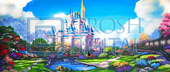 Fairytale Castle Projected Backdrop for Castles, Cinderella, Dance, Exteriors, Palace/Parlors, Sleeping Beauty