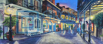 New Orleans Square Projected Backdrop for Exteriors, Streets, Travel