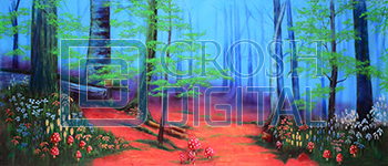 Enchanted Forest Projected Backdrop for Alice in Wonderland, Beauty and the Beast, Cinderella, Forest, Into the Woods, Mary Poppins, Peter Pan, Shrek, Sleeping Beauty, Wizard of Oz