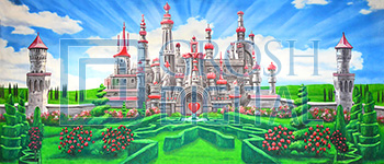Queen of Hearts Backdrop Projected Backdrop for Alice in Wonderland, Gardens