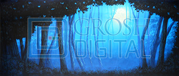 Blue Night Forest Projected Backdrop for
